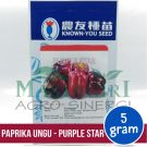 "Paprika Ungu – Known You Seed ""PURPLE STAR"""