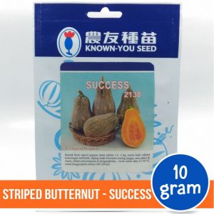 "Striped Butternut Pumpkin – Known You Seed ""SUCCESS"""